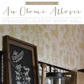 An Otomi Allover Stenciled Laundry Room Wall