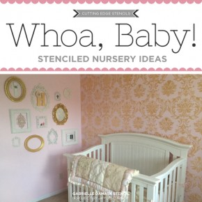Cutting Edge Stencils shares DIY stenciled nursery ideas. http://www.cuttingedgestencils.com/nursery-stencils-walls.html