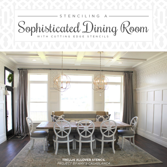 Stenciling A Sophisticated Dining Room