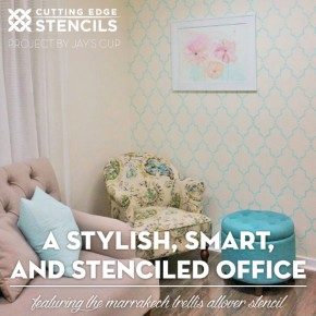 A Stylish, Smart, and Stenciled Office