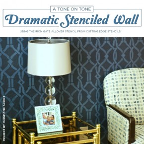 A Dramatic Tone on Tone Stenciled Office