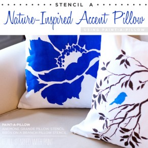 Stencil a Nature-Inspired Accent Pillow