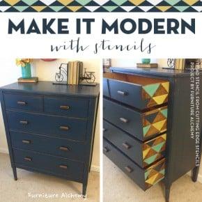 Make It Modern With Stencils