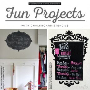 Fun Projects with Chalkboard Stencils
