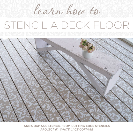 Learn How To Stencil A Deck Floor