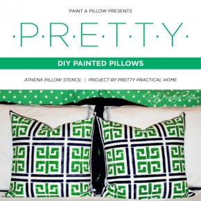 Cutting Edge Stencils shares how to create painted accent pillows using the Athena Stencil from Paint-A-Pillow. http://paintapillow.com/index.php/athena-paint-a-pillow-kit.html