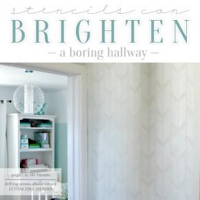 Stencils Can Brighten A Boring Hallway
