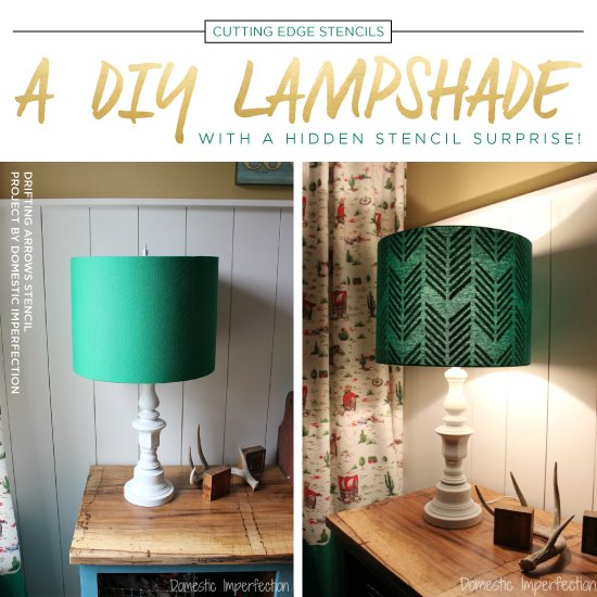 a diy lampshade with hidden stencil surprise stencil stories stencil stories - Diy Lampshade