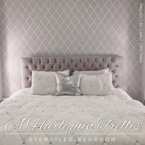 A Harlequin Trellis Stenciled Bedroom