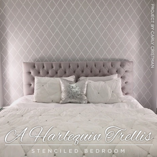 A Harlequin Trellis Stenciled Bedroom Stencil Stories Stencil Stories