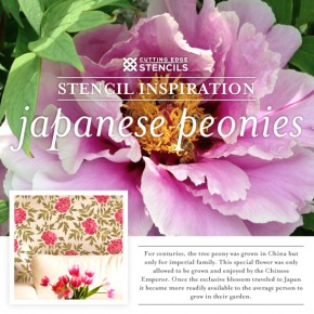 Stencil Inspiration: Japanese Peonies