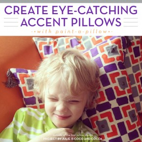 Create Eye-Catching Accent Pillows with Paint-A-Pillow