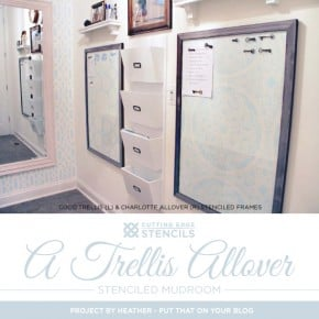 A Trellis Allover Stenciled Mudroom