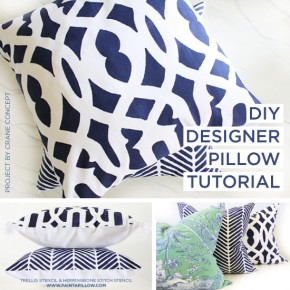 DIY Designer Pillow Tutorial