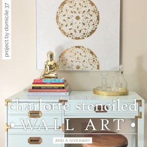 Charlotte Stenciled Wall Art & Giveaway