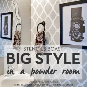 Stencils Boast Big Style In A Powder Room