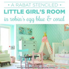 A Rabat Stenciled Girl's Bedroom