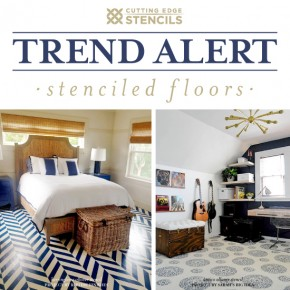 Patterned Floors: Stenciled to Perfection!