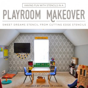 Having Fun With Stencils In A Playroom Makeover