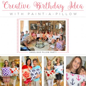 A Creative Birthday Idea With Paint-A-Pillow