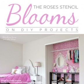 The Roses Stencil Blooms on DIY Projects