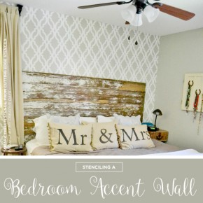 Stenciling A Bedroom Accent Wall