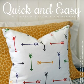 Quick and Easy DIY Arrow Pillow + A Giveaway