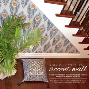 A Stylishly Stenciled Accent Wall