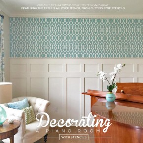 Decorating a Piano Room With Stencils