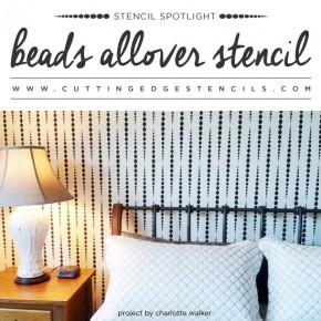 Stencil Spotlight: Beads Allover Stencil