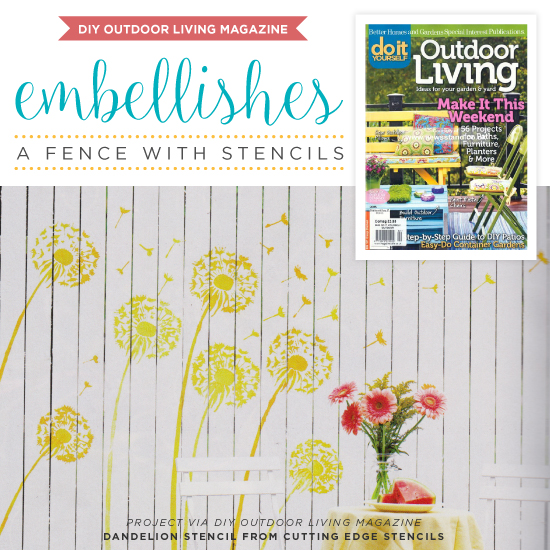 DIY Outdoor Living Magazine Embellishes A Fence With Stencils