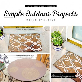 Simple Outdoor Projects Using Stencils