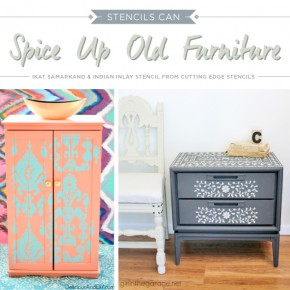 Stencils Can Spice Up Old Furniture
