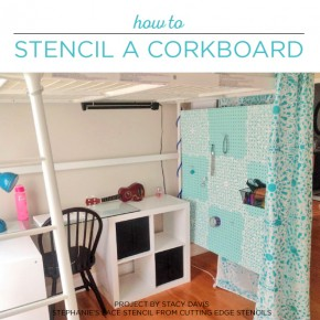 How To Stencil A Pegboard Organizer