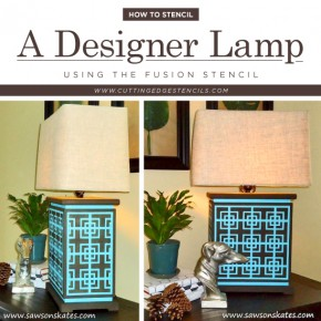 How To Stencil A Designer Lamp Using the Fusion Stencil