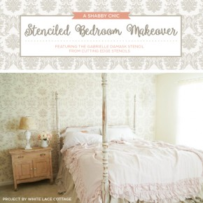 A Shabby Chic Stenciled Bedroom Makeover