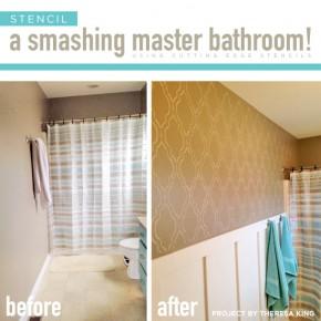 Stencil A Smashing Master Bathroom!