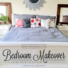 Cutting Edge Stencils shares an inexpensive DIY bedroom makeover using Paint-A-Pillow to make DIY accent pillows. http://paintapillow.com/index.php/