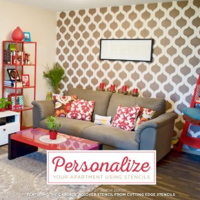 Personalize Your Apartment Using Stencils