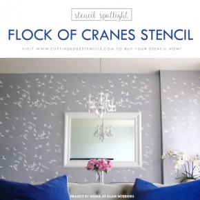 Stencil Spotlight: Flock of Cranes Stencil