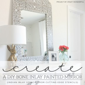 Create A DIY Bone Inlay Painted Mirror