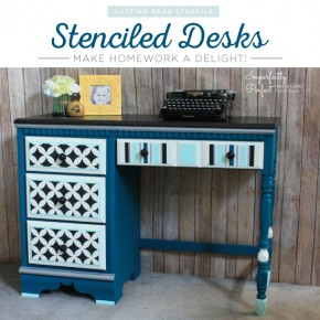 Stenciled Desks Make Homework a Delight!