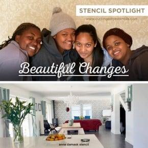 Cutting Edge Stencils shares DIY stenciled room ideas by Beautiful Changes, a wall stenciling company. http://www.cuttingedgestencils.com/wall-stencils-stencil-designs.html