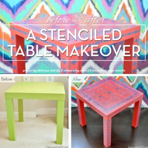 Before and After: A Stenciled Table Makeover