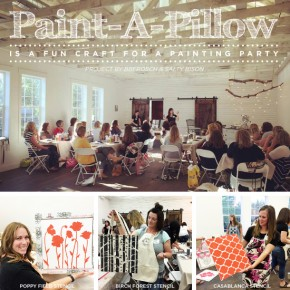 Paint-A-Pillow Is A Fun Craft For A Painting Party