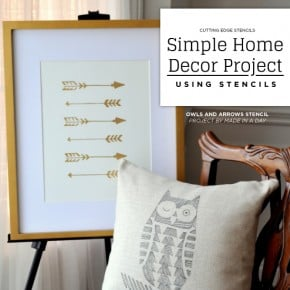 Simple Home Decor Project Using Stencils