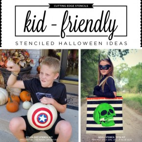 Cutting Edge Stencils shares DIY kid-friendly Halloween projects using stencil. http://www.cuttingedgestencils.com/products_search.php?search_category_id=0&search_string=halloween&search=