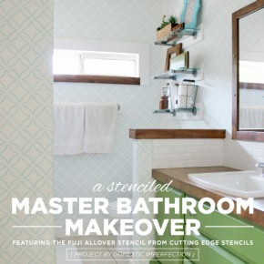 A Stenciled Master Bathroom Makeover
