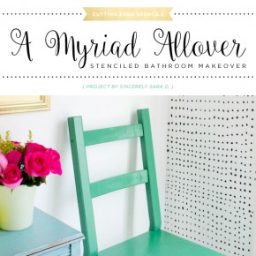 A Myriad Allover Stenciled Bathroom Makeover