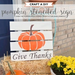 Craft A DIY Pumpkin Stenciled Sign